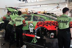El auto chocado de David Ragan, Joe Gibbs Racing Toyota