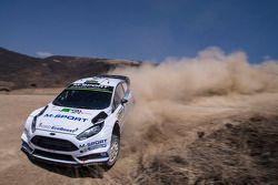 Elfyn Evans y David Barrit, M-Sport Ford Fiesta WRC