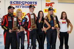 GTA-Podium: 1. Michael Lewis, 2. Henrique Cisneros, 3. Christina Nielsen