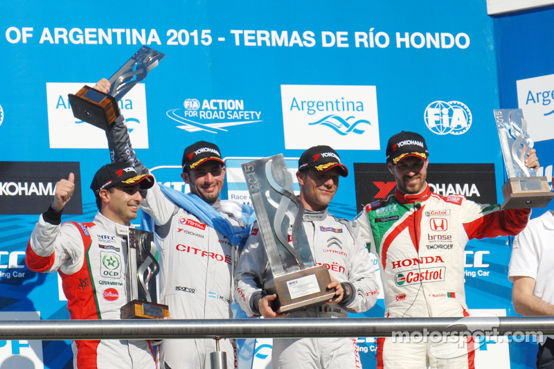 Podium: 1. Sébastien Loeb, 2. Jose Maria Lopez, 3. Tiago Monteiro