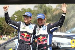 En tercer lugar Andreas Mikkelsen y Ola Fløene, Volkswagen Polo WRC, Volkswagen Motorsport