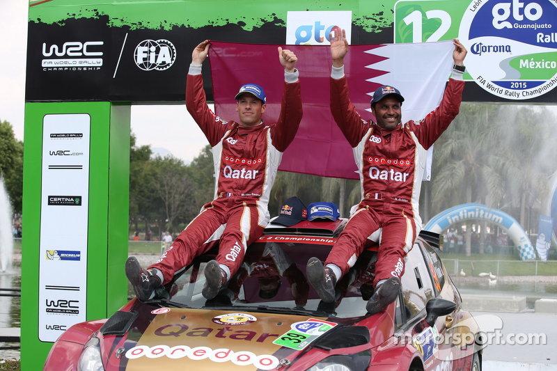 Ganadores WRC2 Nasser Al-Attiyah y Matthieu Baumel, Ford Fiesta R5