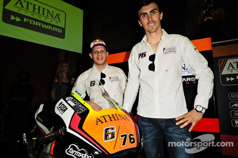 Stefan Bradl and Loris Baz with the Forward Racing bike