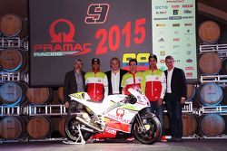 Yonny Hernandez and Danilo Petrucci with the Pramac Racing Ducati