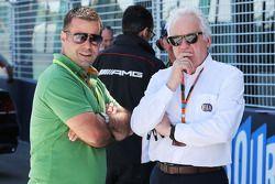 (L to R): Zsolt Baumgartner, with Charlie Whiting, FIA Delegate