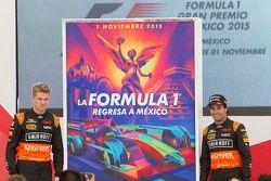 Cartel GP México Nico Hülkenberg, Sergio Pérez Sahara Force India