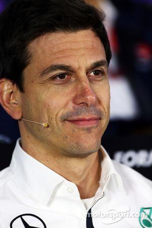 Toto Wolff, Président Exécutif de Mercedes AMG F1 lors de la conférence de presse de la FIA