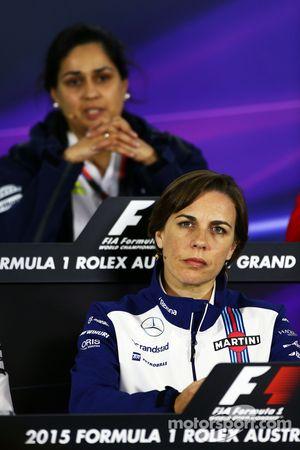 Claire Williams, Williams Deputy Team Principal and Monisha Kaltenborn, Sauber Team Principal in the FIA Press Conference