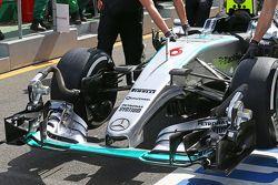 Nico Rosberg, Mercedes AMG F1 W06 - alerón delantero
