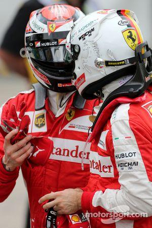 Sebastian Vettel, Scuderia Ferrari y Kimi Raikkonen, Scuderia Ferrari