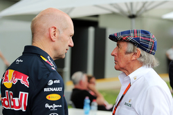 Adrian Newey, Red Bull Racing Chief Technical Officer with Jackie Stewart (GBR)