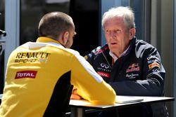 Сирил Абитбуль, Renault Sport, и Хельмут Марко, консультант Red Bull
