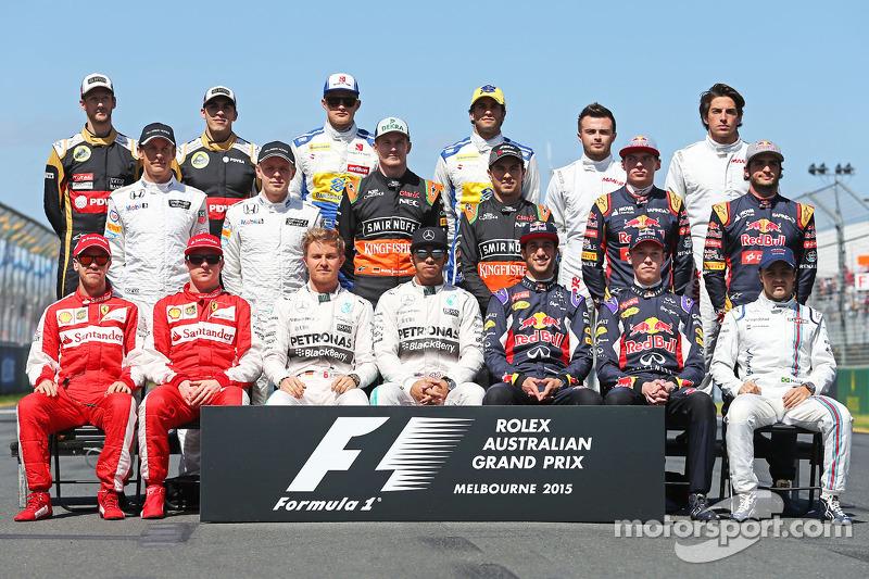 Familiefoto: de klas van 2015 in de Formule 1