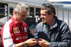 (L to R): Maurizio Arrivabene, Ferrari Team Principal with Guenther Steiner, Haas F1 Team Principal