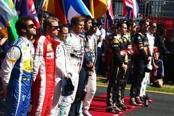 Die Fahrer in der Startaufstellung