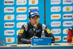 Post-race press conference: race winner Nicolas Prost, second place Scott Speed, third place Daniel