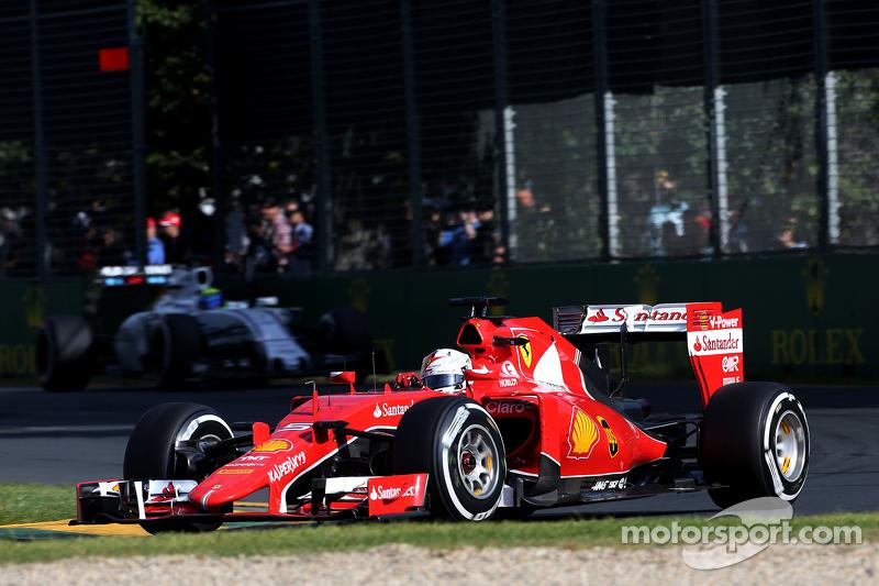 В дебютной гонке за новую команду Себ не смог угнаться за соперниками из Mercedes, но переиграл всех остальных