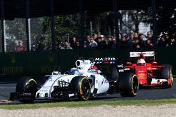 Felipe Massa, Williams F1 Team y Sebastian Vettel, Scuderia Ferrari