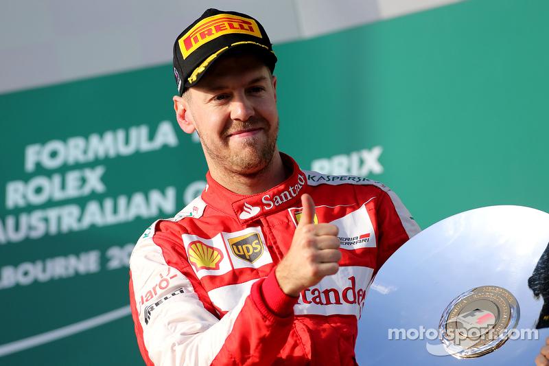 В первой же гонке за Скудерию немец поднялся на подиум: чемпион финишировал третьим в Гран При Австралии