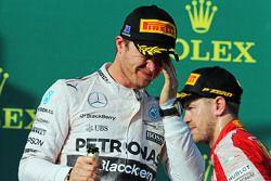 Nico Rosberg, Mercedes AMG F1 celebra su posición en el podio