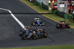 Nico Hulkenberg, Sahara Force India F1 VJM08 lidera a su compañero, Sergio Pérez, Sahara Force India