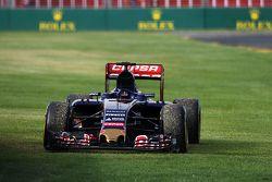 The Scuderia Toro Rosso STR10 of race retiree Max Verstappen, Scuderia Toro Rosso
