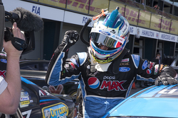 Race winner Mark Winterbottom, Prodrive Racing Australia Ford celebrates