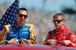 Sam Hornish Jr., Richard Petty Motorsports Ford, Justin Allgaier, HScott Motorsports Chevrolet