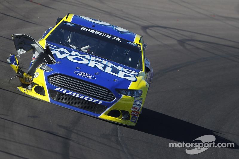 Sam Hornish jr., Richard Petty Motorsports, Ford, in Schwierigkeiten