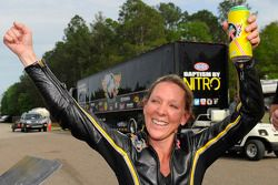 Pro Stock Bike winner Karen Stoffer