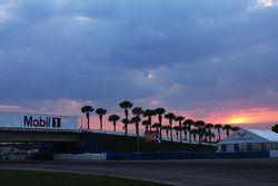 The sun sets on Sebring International Raceway