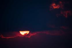 赛百灵国际赛道的日落