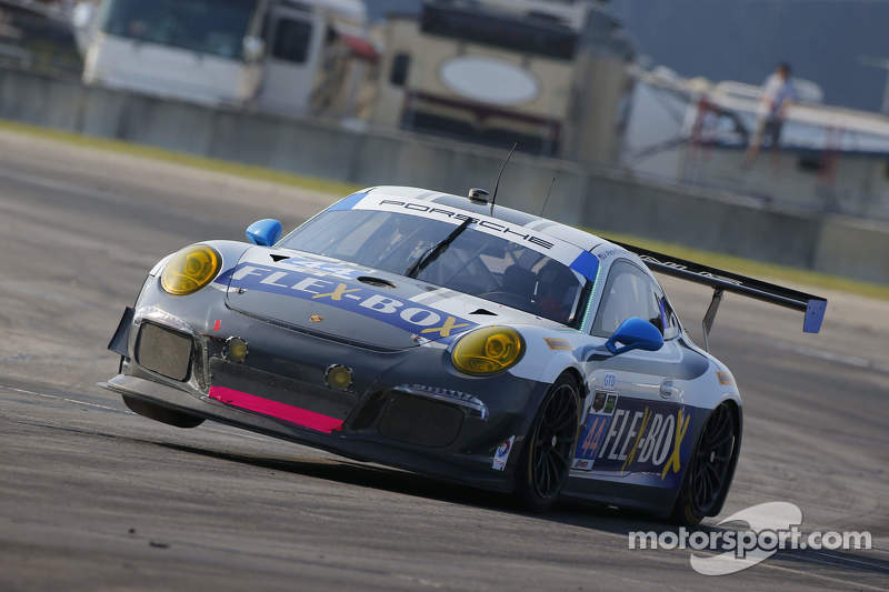 #44 Magnus Racing Porsche 911 GT America: John Potter, Andy Lally, Marco Seefried