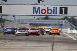 ST start: #18 RSI Porsche Cayman: Jon Miller, Adam Isman