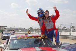Race winners Robin Liddell and Andrew Davis, Stevenson Motorsports