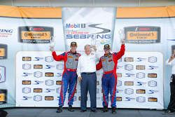 Podium: race winners Robin Liddell, Andrew Davis, Stevenson Motorsports