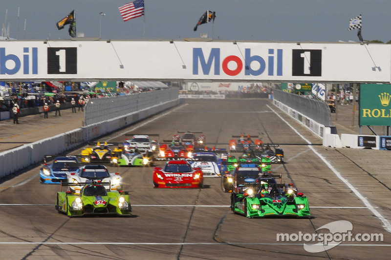 Start: #57 Krohn Racing, Ligier JS P2 Judd: Tracy Krohn, Olivier Pla, Nic Jonsson, in Führung