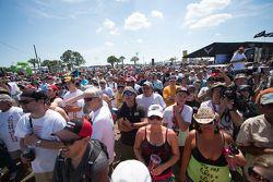 Fans watch the bikini contest