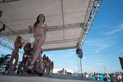 Lovely contestants in the famous Sebring Bikini Contest