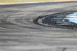 Rubber build up at the hairpin