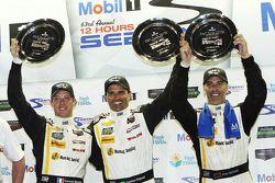 Overall podium: race winners Sébastien Bourdais, Christian Fittipaldi, Joao Barbosa, Action Express