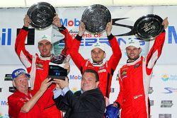 GTLM podium: second place Pierre Kaffer, Andrea Bertolini, Giancarlo Fisichella