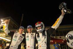 GTLM class winners Ryan Briscoe, Jan Magnussen, Antonio Garcia, Corvette Racing