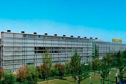 Un edificio en el complejo de la fábrica de Ferrari