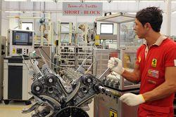 Un trabajador de Ferrari