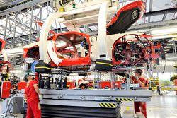 Línea de ensamblaje de Ferrari