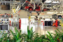 Ferrari assembly line
