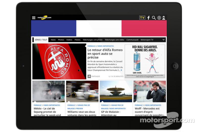 موتورسبورت دوت كوم - فرنسا لقطة شاشة