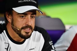 Fernando Alonso, McLaren in the FIA Press Conference