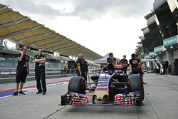The Scuderia Toro Rosso STR10 at scrutineering